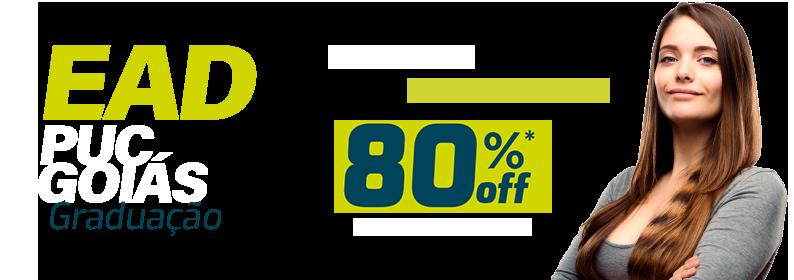 EAD PUC goiás: seu futuro começa agora. 80% off na primeira mensalidade.